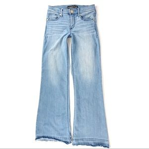Express Wide Leg Flare Jeans Light Wash Released